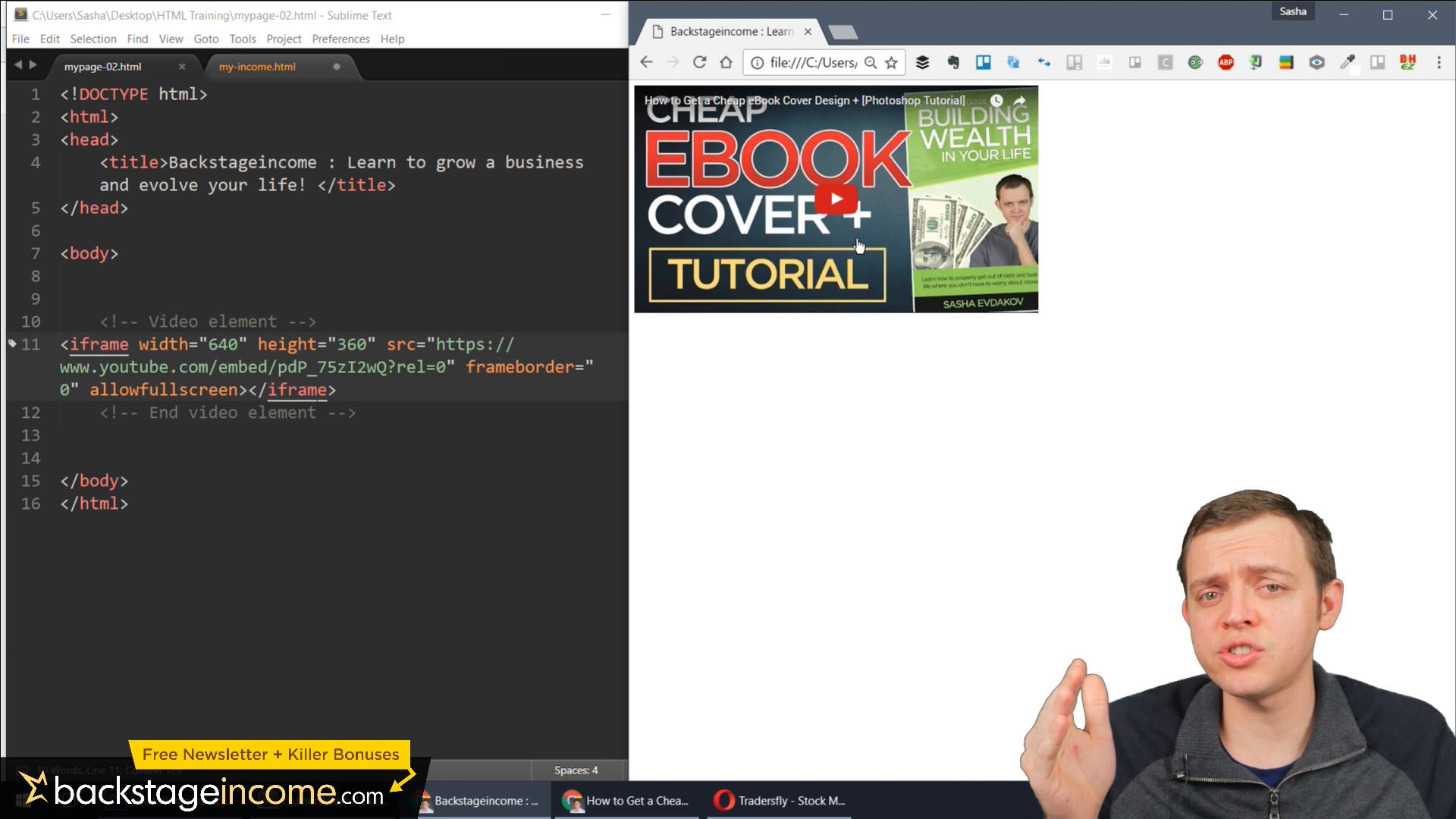 HTML Tutorial for Beginners: 15 Add YouTube Videos to Your