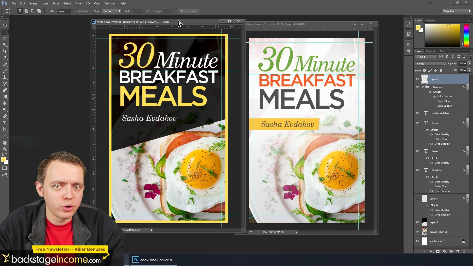 Photoshop Tutorial: Design a Cook Book Cover for Your Amazon Kindle