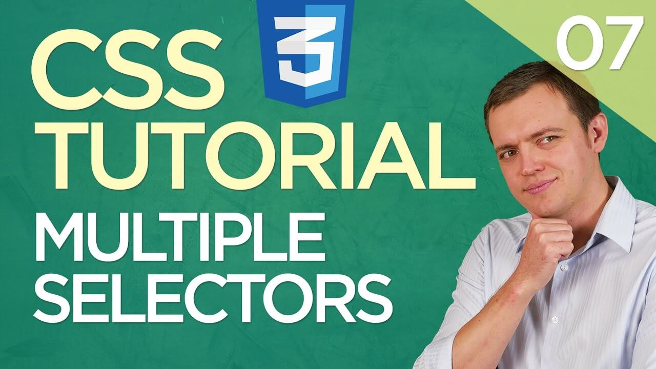 CSS3 Tutorial for Beginners: 07 Writing Multiple Selectors & Rule For Multiple Elements