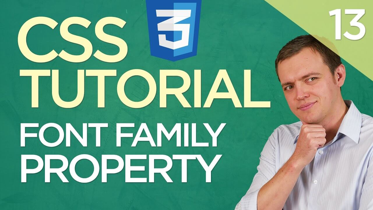 CSS3 Tutorial for Beginners: 13 Adding Font Family Property