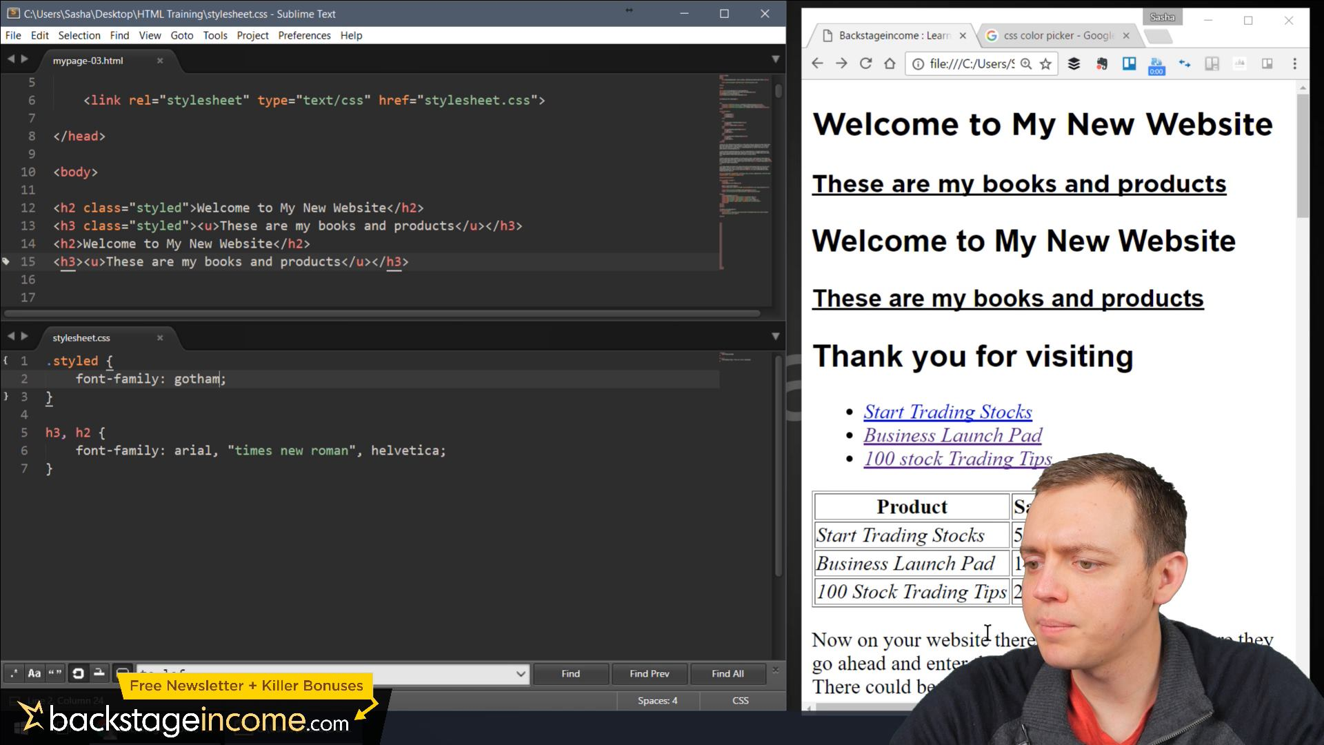 CSS3 Tutorial for Beginners: 14 How to Use a Custom Font