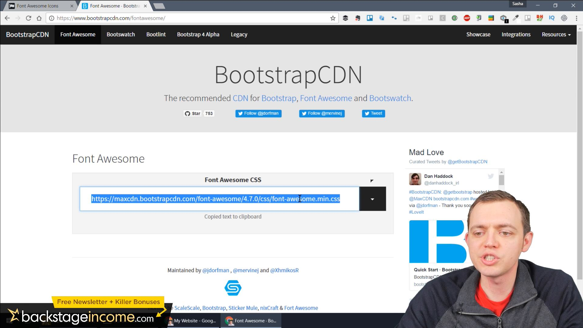 CSS3 Tutorial for Beginners: 15 Using Bootstrap Font Awesome