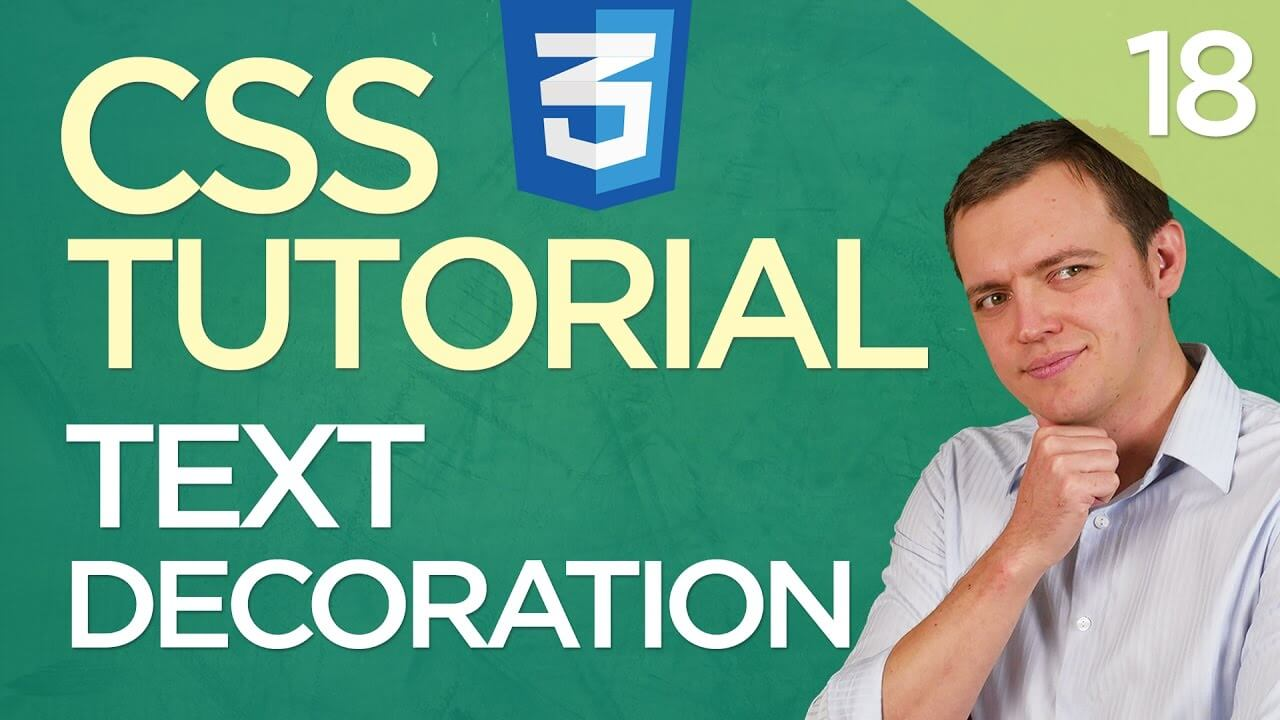 CSS3 Tutorial for Beginners: 18 3 Ways To Use Text Decoration (Underline, Overline, line-through)
