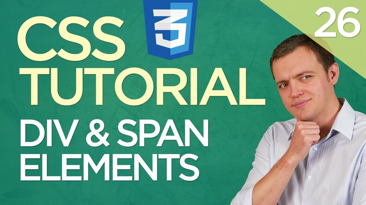 CSS3 Tutorial for Beginners: 26 Div & Span Elements (Inline Vs. Block Tags)