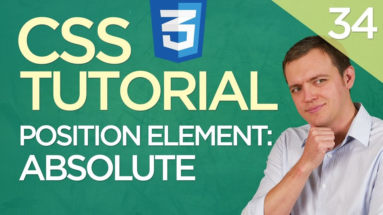 CSS3 Tutorial for Beginners: 34 Absolute Positioning Element (Div)