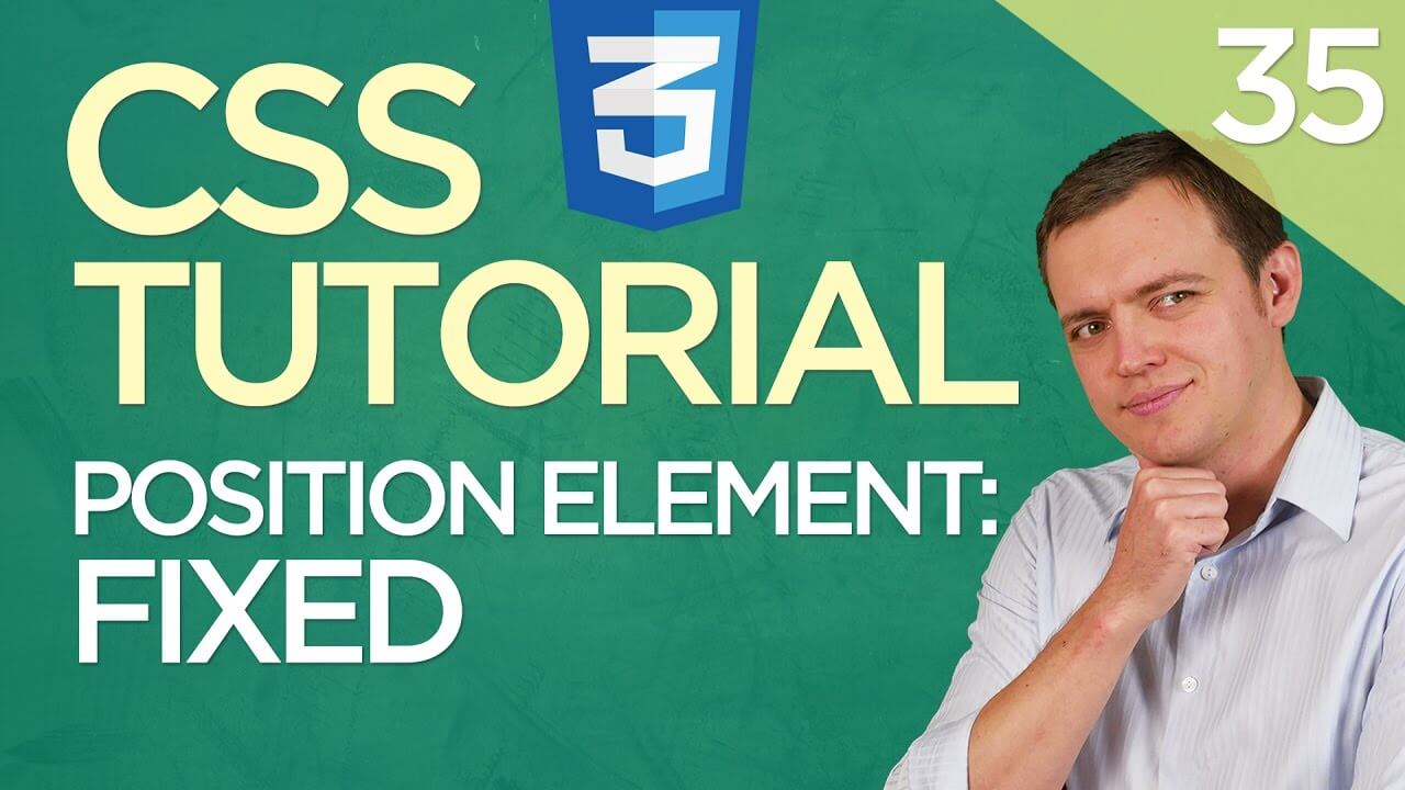 CSS3 Tutorial for Beginners: 35 Fixed Positioning Element