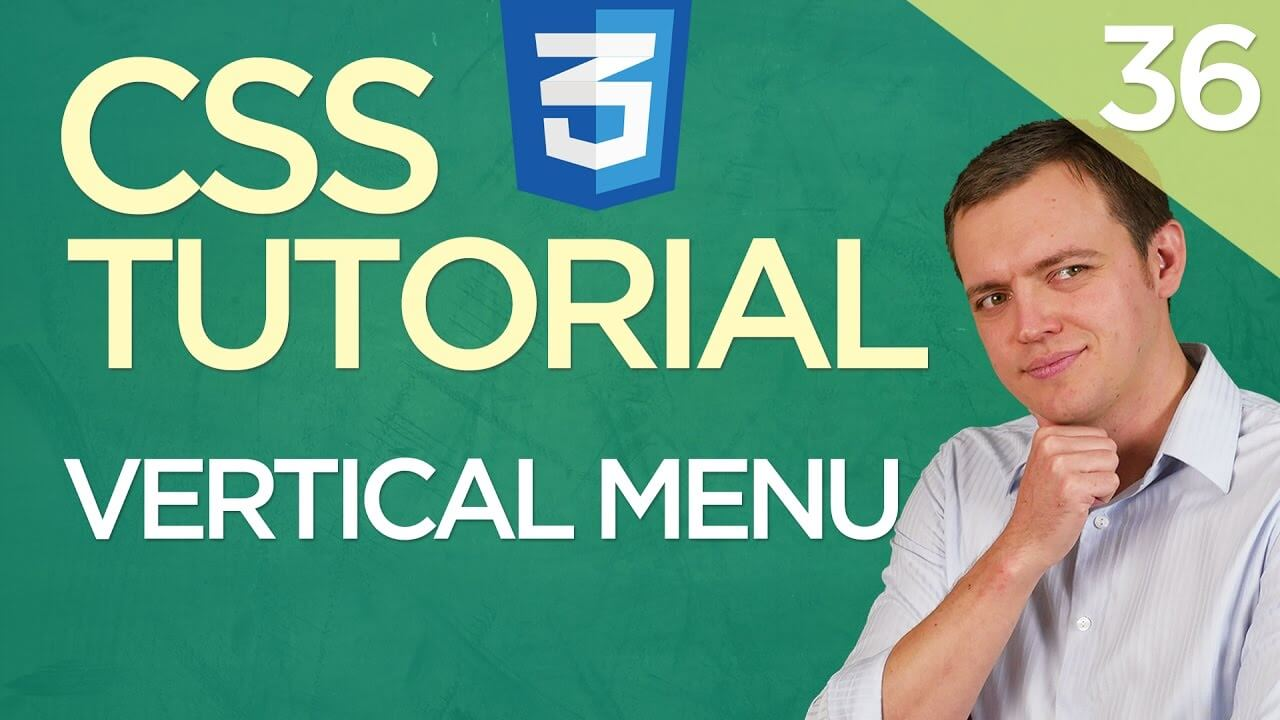 CSS3 Tutorial for Beginners: 36 How To Setup A Vertical Menu