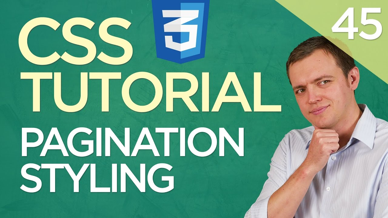 CSS3 Tutorial for Beginners: 45 Pagination Navigation Styling Within Your Pages
