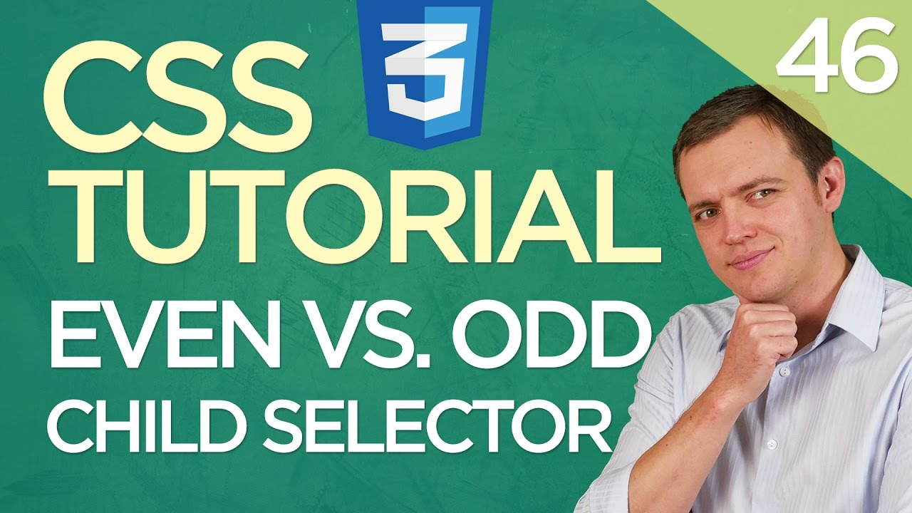 CSS3 Tutorial for Beginners: 46 Even vs. Odd nth Child Selector Rule
