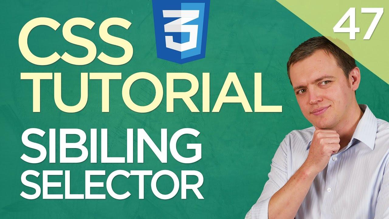 CSS3 Tutorial for Beginners: 47 Sibling & Adjacent Wildcard Selectors
