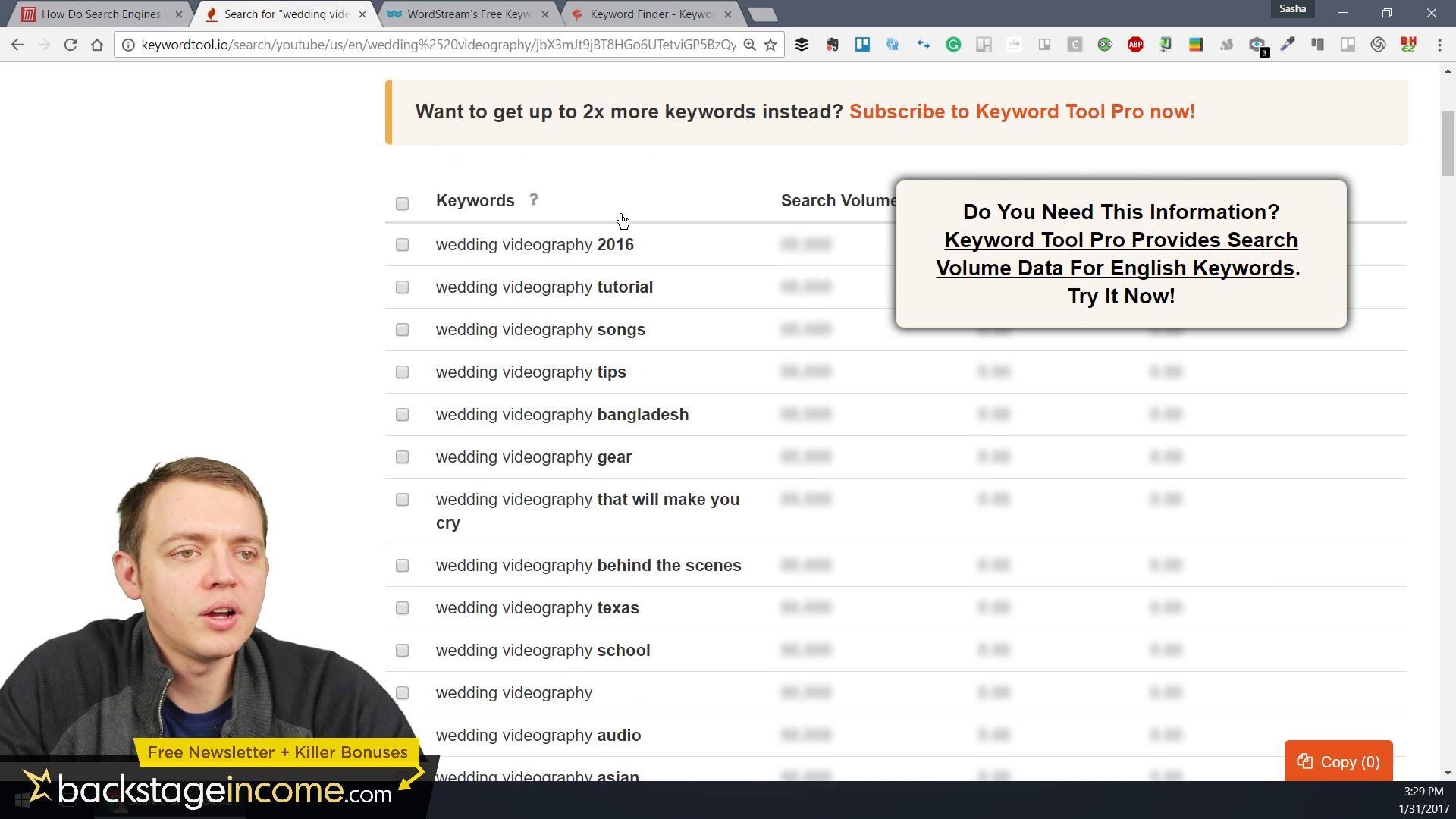 how to create a seo keyword list