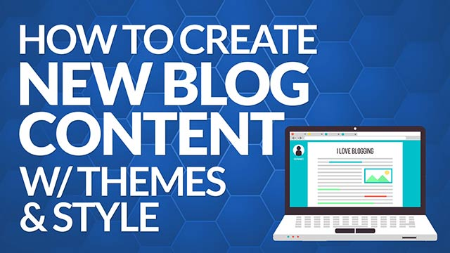 How to Create New Blog Content Easily with New Themes or Filming Style #BSI 14