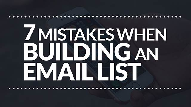 7 Mistakes You Might Be Making with Growing Your Email List #BSI 27