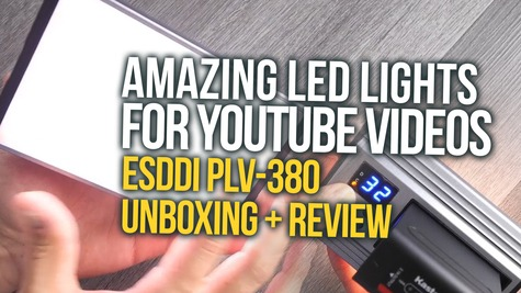 Powerful Cheap LED Light for YouTube Videos: ESDDI PLV-380 Unboxing & Test