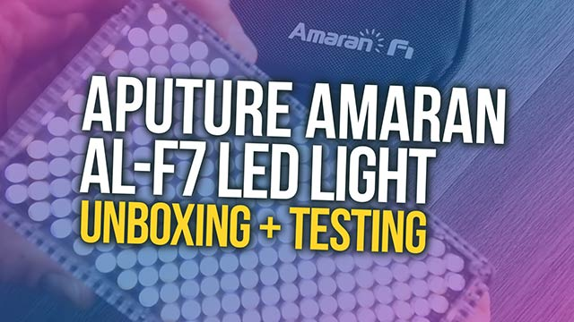 UNBOXING + Testing the Aputure Amaran AL-F7 LED LIGHT! #insidebsi 12
