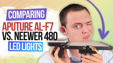 Comparing the Aputure AL-F7 vs Neewer 480 LED Lights