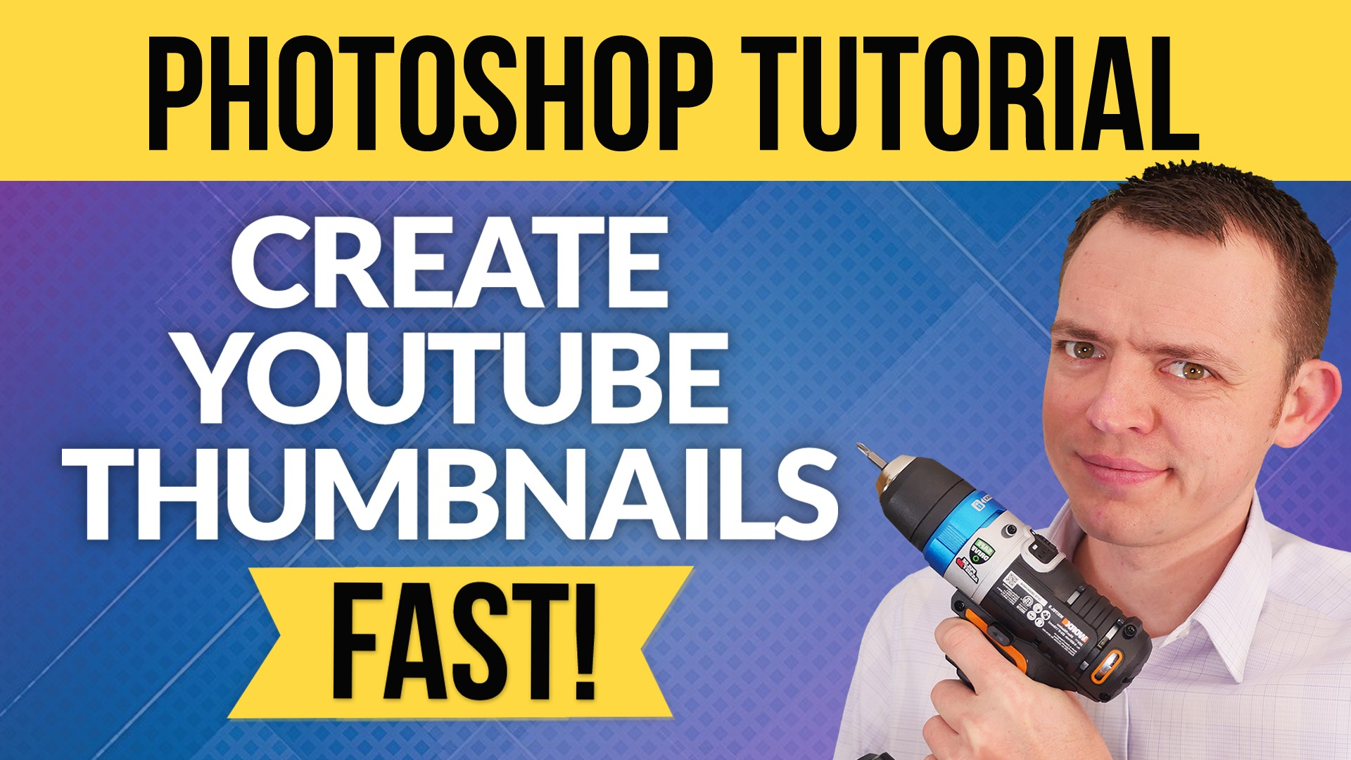How to Make YouTube Thumbnails in Photoshop FAST with Asset Libraries