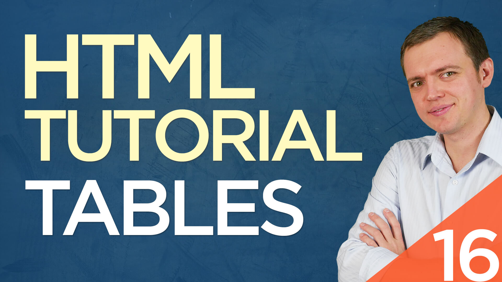 HTML Tutorial for Beginners: 16 Creating Tables, Rows, & Columns