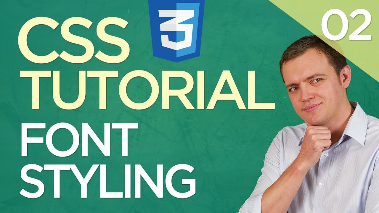 CSS3 Tutorial for Beginners: 02 Creating Fonts Styling (Type, Color, & Size)