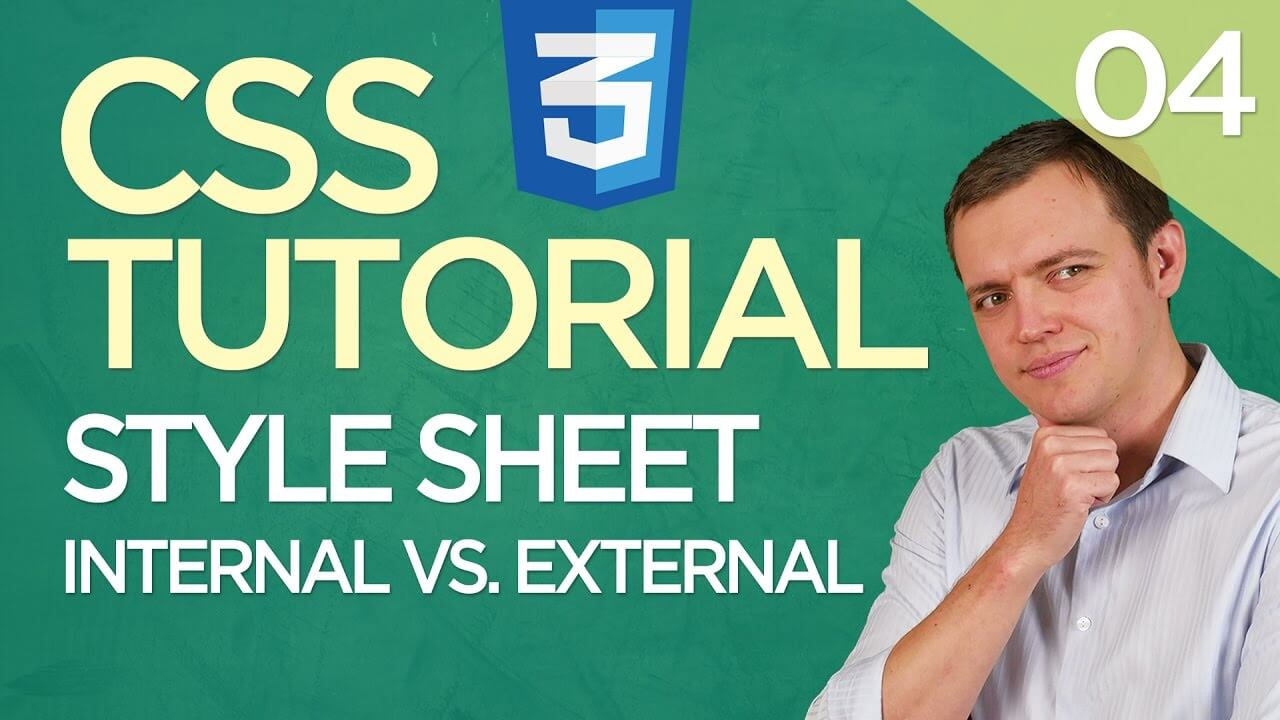 CSS3 Tutorial for Beginners: 04 External Vs. Internal Style Sheets