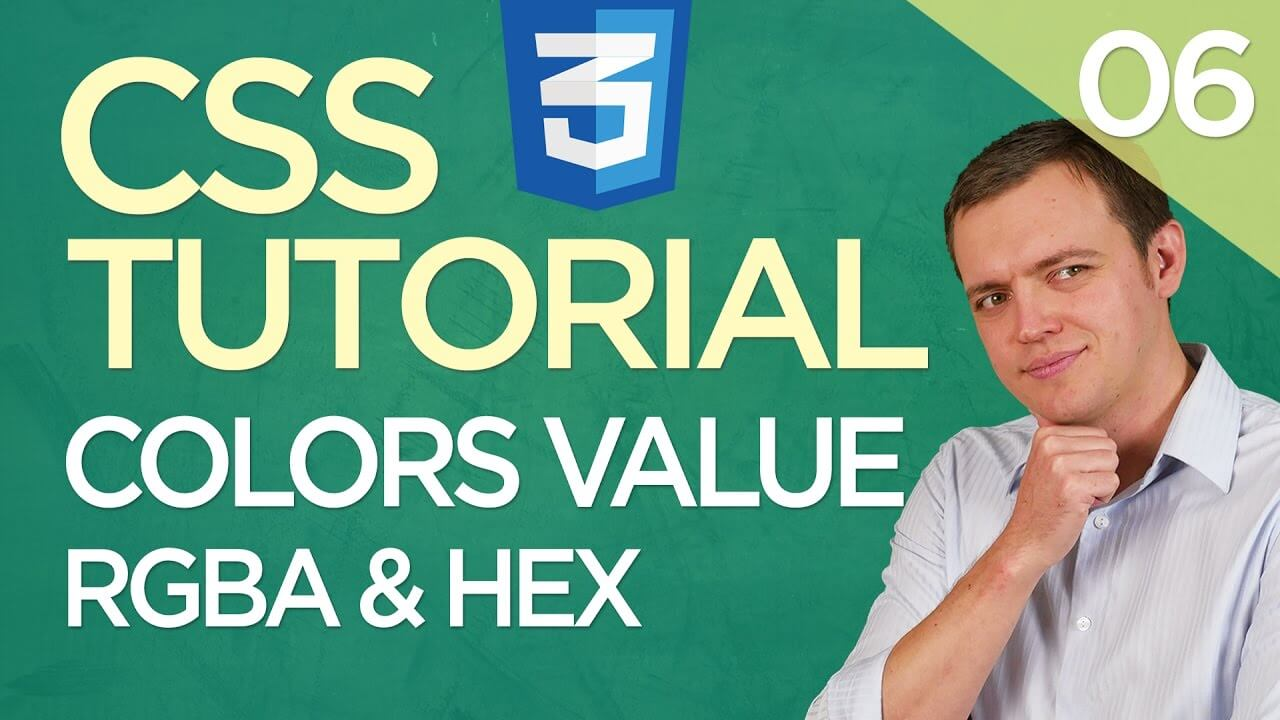 CSS3 Tutorial for Beginners: 06 Using CSS Colors Value (RGBA & HEX Code)